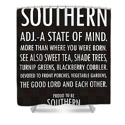 Southern State Of Mind Black And White Shower Curtain