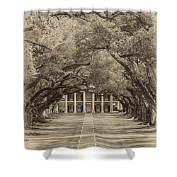 Southern Time Travel Sepia Shower Curtain by Steve Harrington