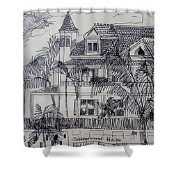 Southernmost House  Key West Florida Shower Curtain by Diane Pape