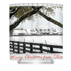 Southfork Christmas Shower Curtain
