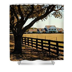 Southfork Ranch - Across The Pasture Shower Curtain by Robert ONeil