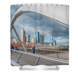 Southgate Bridge Shower Curtain by Ray Warren