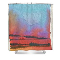 Shower Curtain featuring the painting Southland by Donald Maier