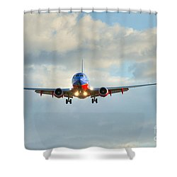 Southwest Airline Landing Gear Down Shower Curtain
