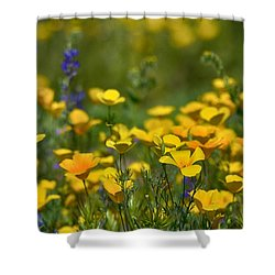 Southwest Wildflowers  Shower Curtain by Saija  Lehtonen