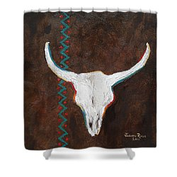 Shower Curtain featuring the painting Southwestern Influence by Judith Rhue