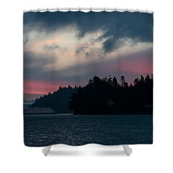 Southworth Ferry Run At Dawn Shower Curtain