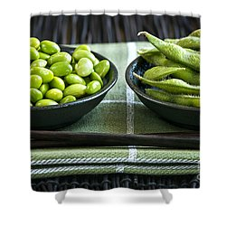 Soy Beans In Bowls Shower Curtain by Elena Elisseeva