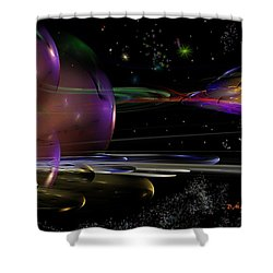Space Abstraction Shower Curtain by David Lane