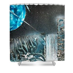 Space-fall Shower Curtain