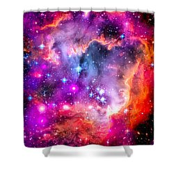 Space Image Small Magellanic Cloud Smc Galaxy Shower Curtain