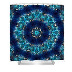Space Kaleidoscope Shower Curtain