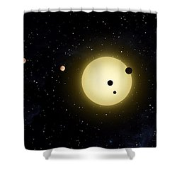 Space Kepler 11 Introduction Shower Curtain by Movie Poster Prints
