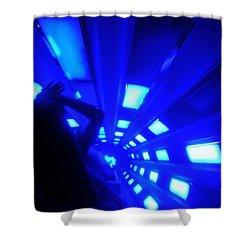 Space Mountain Blast Off Shower Curtain by David Lee Thompson