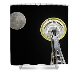 Space Needle Shower Curtain by David Gleeson