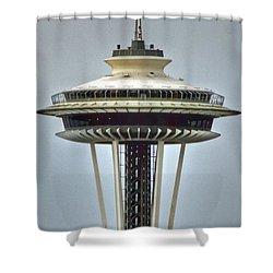 Space Needle Tower Seattle Washington Shower Curtain