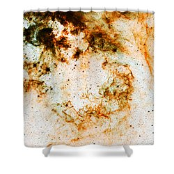 Space Rust Shower Curtain by Jennifer Rondinelli Reilly - Fine Art Photography