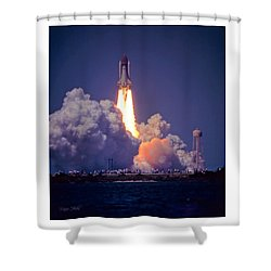 Space Shuttle Challenger Sts-6 First Flight 1983 Photo 1  Shower Curtain