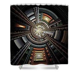 Space Station Shower Curtain by Anastasiya Malakhova