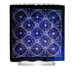 Space Time At Planck Length Vibrating At Speed Of Light Due To Heisenberg Uncertainty Principle Shower Curtain by Jason Padgett