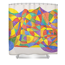 Space Craft Shower Curtain by Stormm Bradshaw