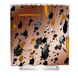 Shower Curtain featuring the photograph Splatters by Tina M Wenger