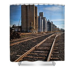 Spangle Grain Elevator Color Shower Curtain