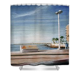 Spanish Coast Shower Curtain