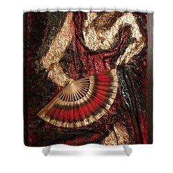 Spanish Dancer Framed Shower Curtain