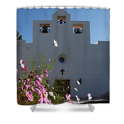 Shower Curtain featuring the photograph Spanish Mission by Susan Rovira