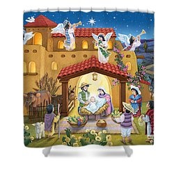Spanish Nativity Shower Curtain