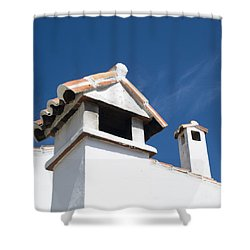 Spanish Rooftops Shower Curtain by Anne Gilbert