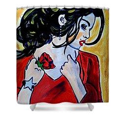 Spanish Rose Shower Curtain