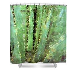 Spanish Sword Shower Curtain by Susan Schroeder