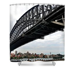 Spanning Sydney Harbour Shower Curtain by Kaye Menner