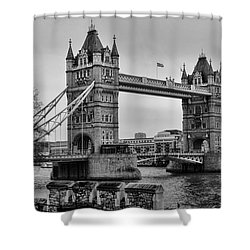 Spanning The Thames Shower Curtain by Heather Applegate