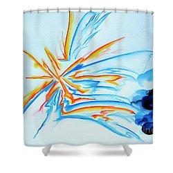 Spark Shower Curtain
