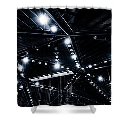 Spark Shower Curtain by Noir Blanc