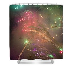 Sparked Sky Shower Curtain