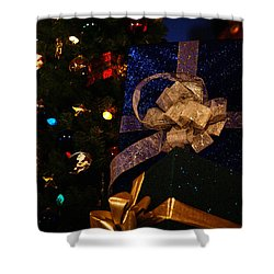 Shower Curtain featuring the photograph Sparkle Ribbon And Bows by Linda Shafer