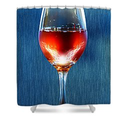 Sparkling Moscato Shower Curtain by Bill Tiepelman