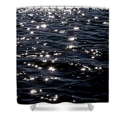 Sparkling Waters At Midnight Shower Curtain