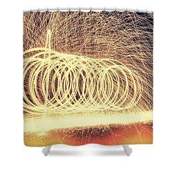 Sparks Shower Curtain by Dan Sproul