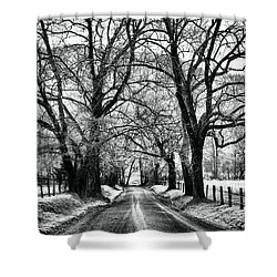 Sparks Lane During Winter Shower Curtain