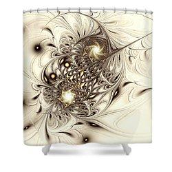 Sparrow Shower Curtain by Anastasiya Malakhova