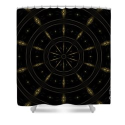 Spatial Abstract Background Pattern Shower Curtain by Jose Elias - Sofia Pereira