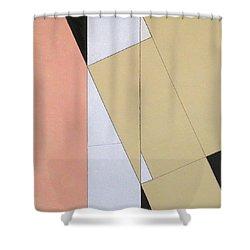 Spatial Relationship Shower Curtain by George Dannatt
