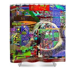 Speak To Hashem Shower Curtain by David Baruch Wolk