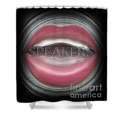 Speakers Shower Curtain by Catherine Lott