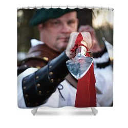 Spear Of The Scot Shower Curtain by Tara Potts